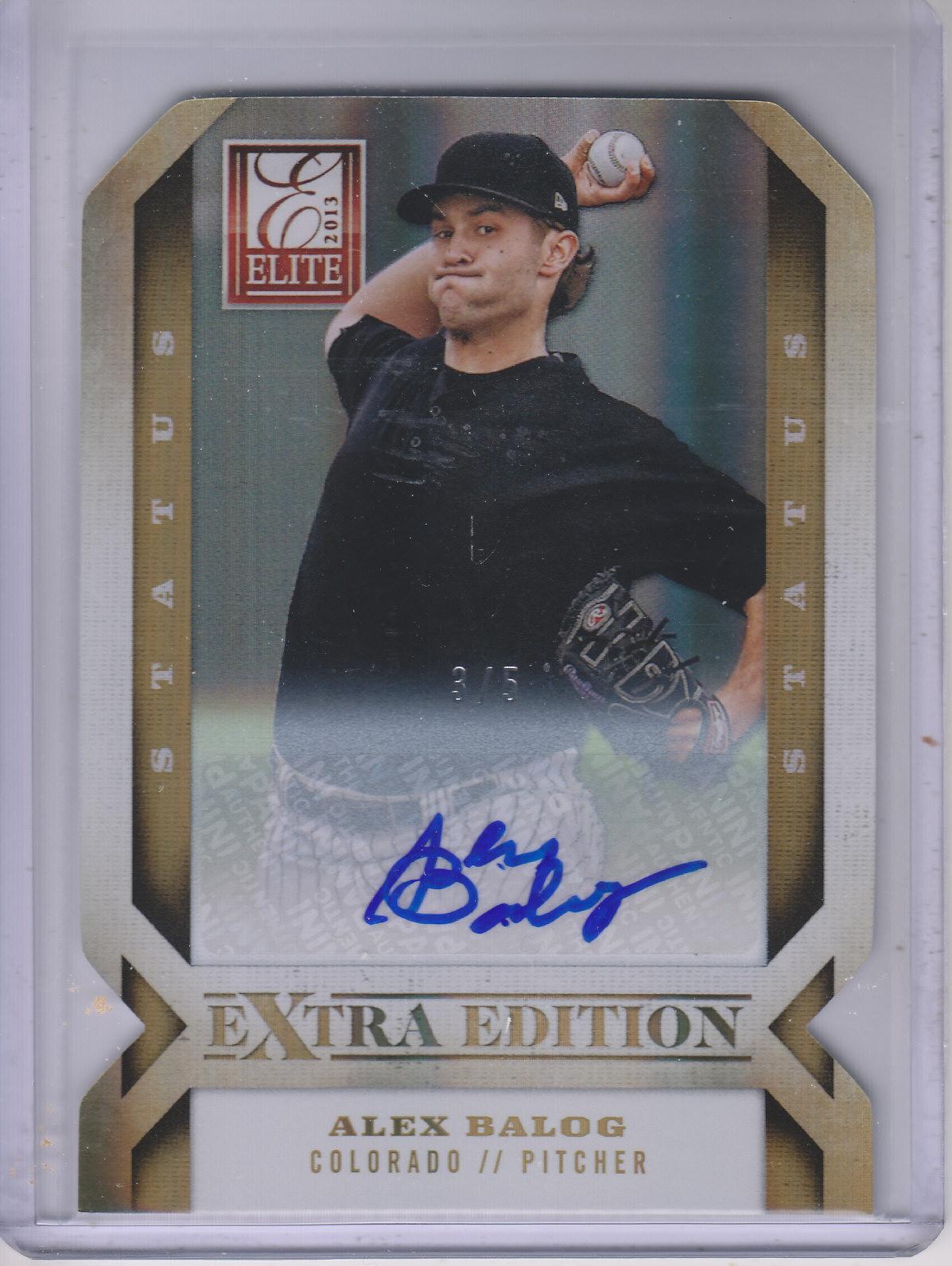 2013 Elite Extra Edition Signature Status Gold #24 Alex Balog