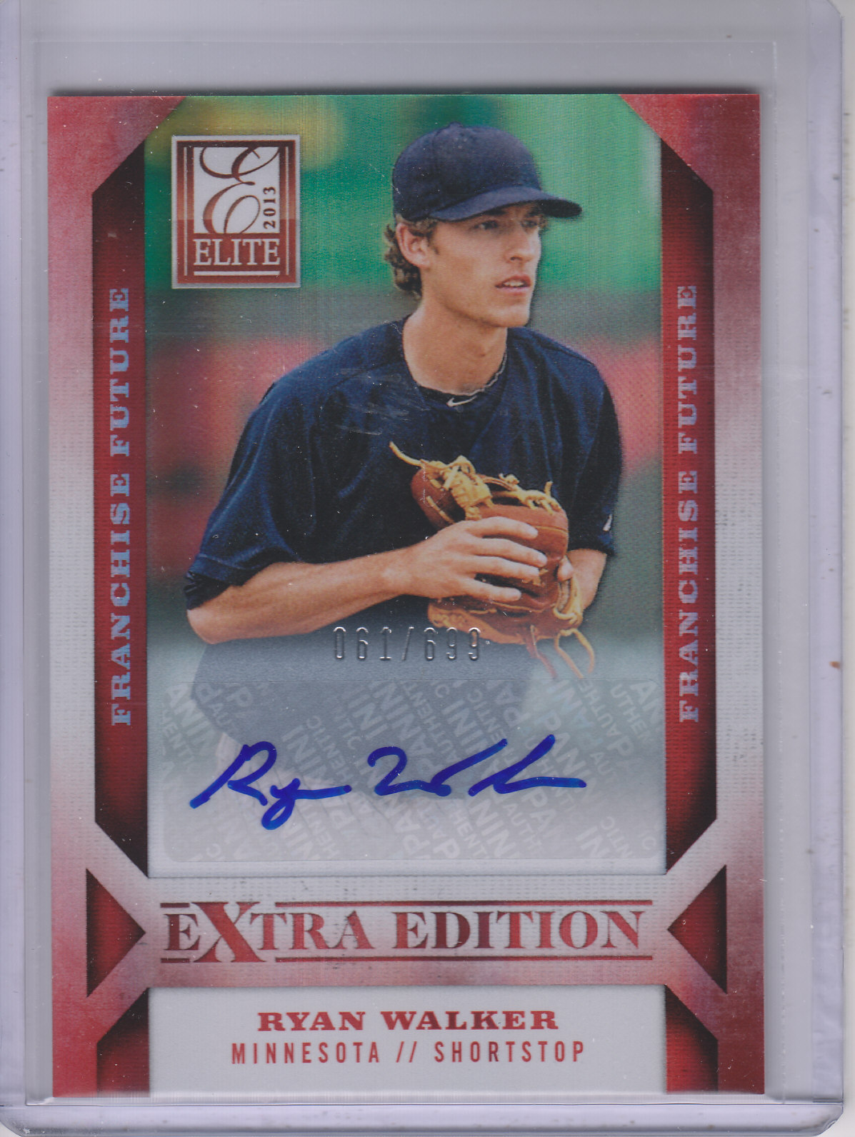 2013 Elite Extra Edition Franchise Futures Signatures #7 Ryan Walker/699