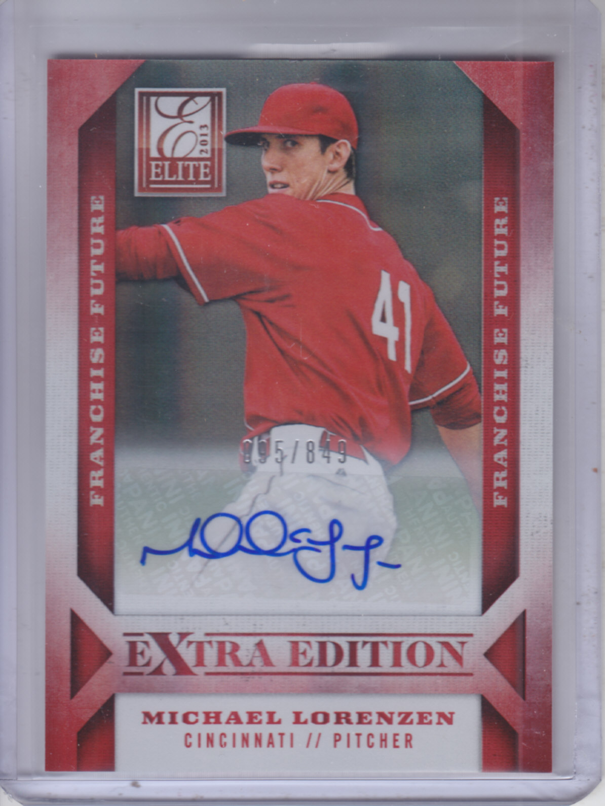 2013 Elite Extra Edition Franchise Futures Signatures #12 Michael Lorenzen/849 EXCH
