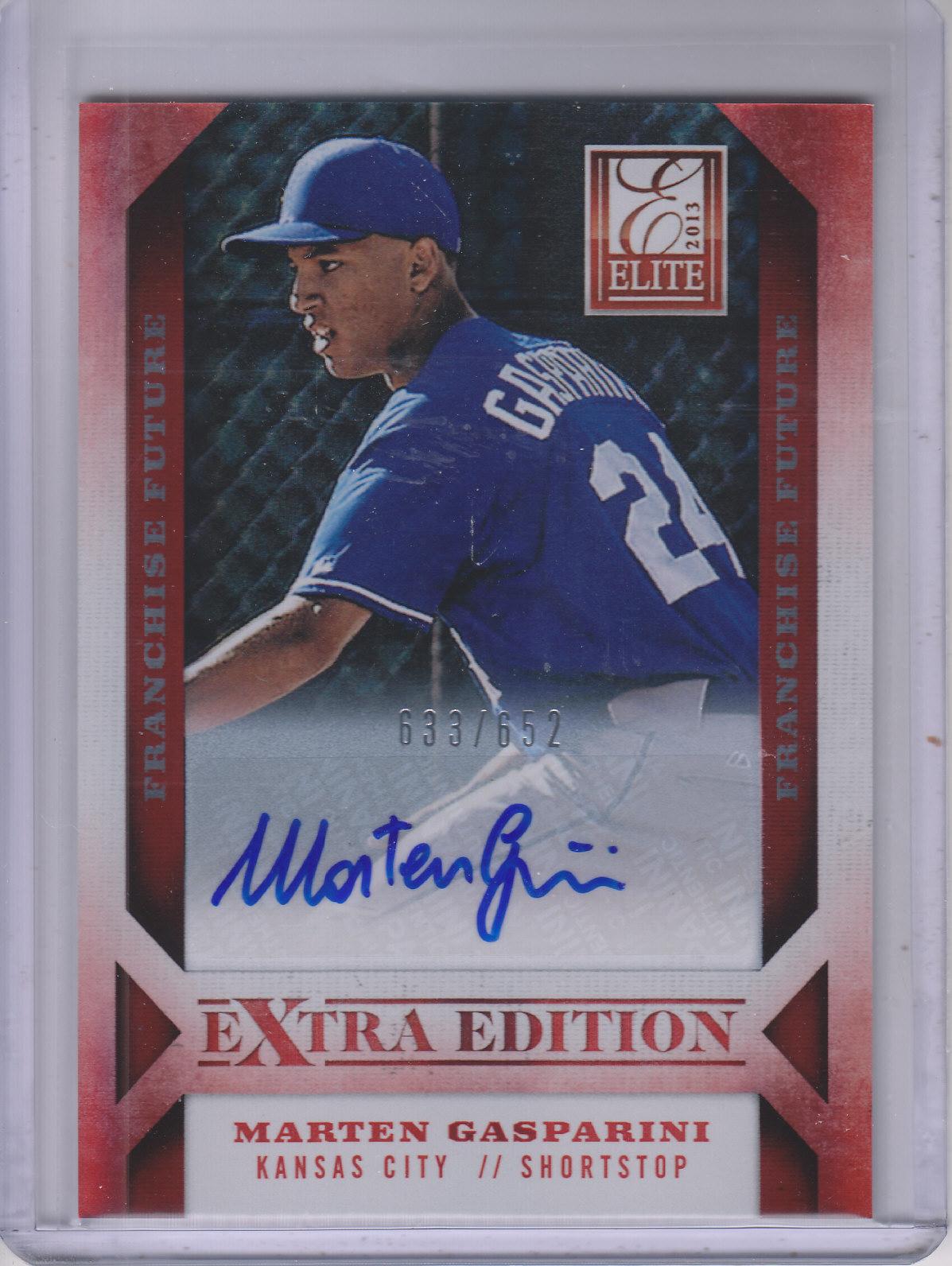 2013 Elite Extra Edition Franchise Futures Signatures #22 Marten Gasparini/652