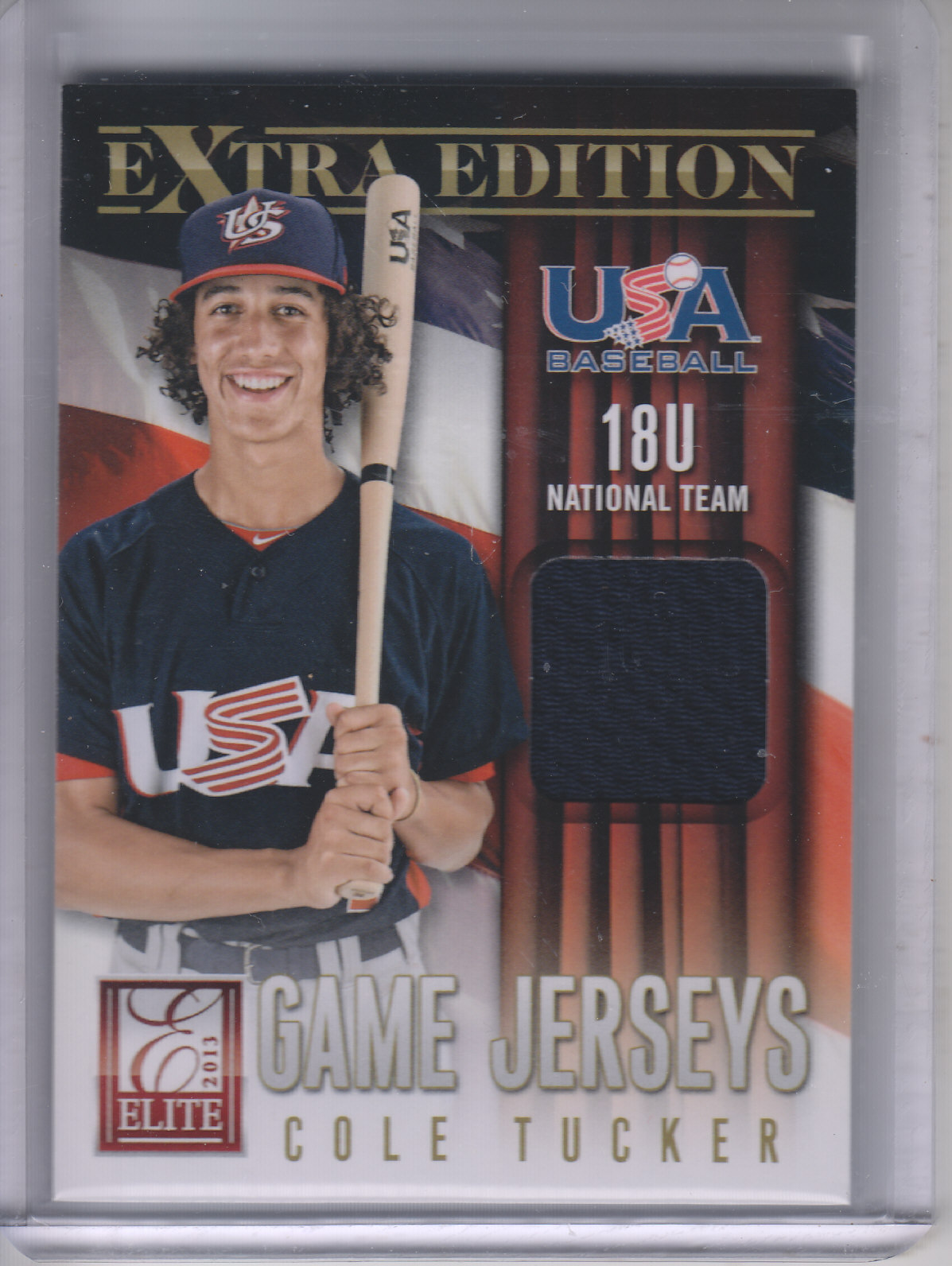 2013 Elite Extra Edition USA Baseball 18U Game Jerseys #20 Cole Tucker