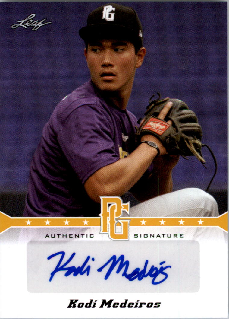 2013 Leaf Perfect Game Autographs Gold #KM1 Kodi Medeiros