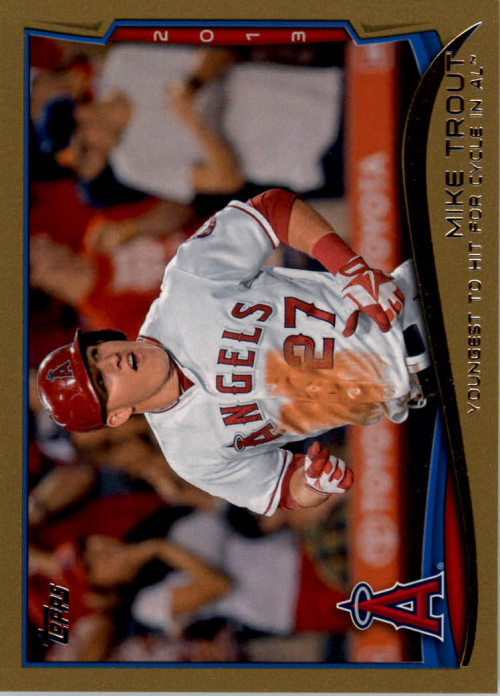 2014 Topps Gold #364 Mike Trout