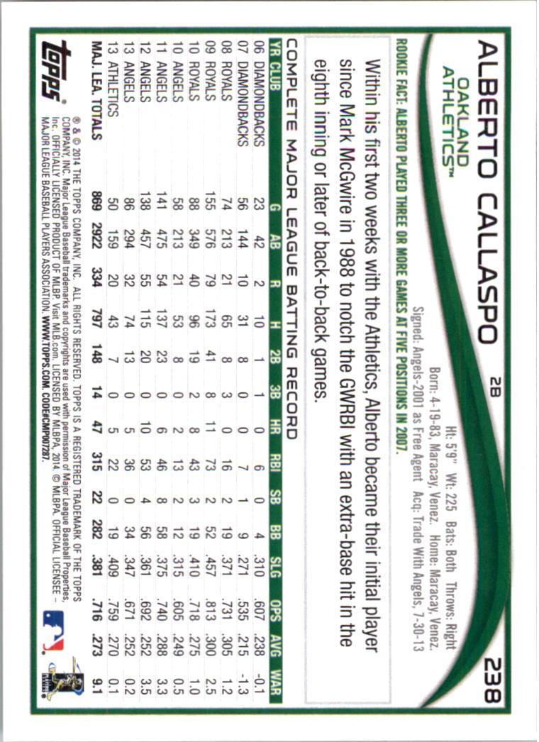 2014-Tarjeta-de-beisbol-Topps-Verde-Pick miniatura 46