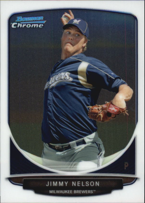 2013 Bowman Chrome Mini #25 Jimmy Nelson