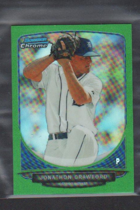 2013 Bowman Chrome Mini Green Refractors #8 Jonathon Crawford