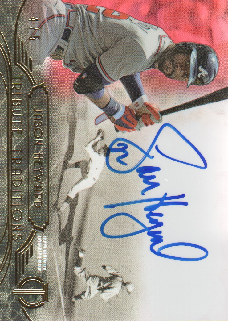 2014 Topps Tribute Tribute Traditions Autographs Red #TTJHE Jason Heyward
