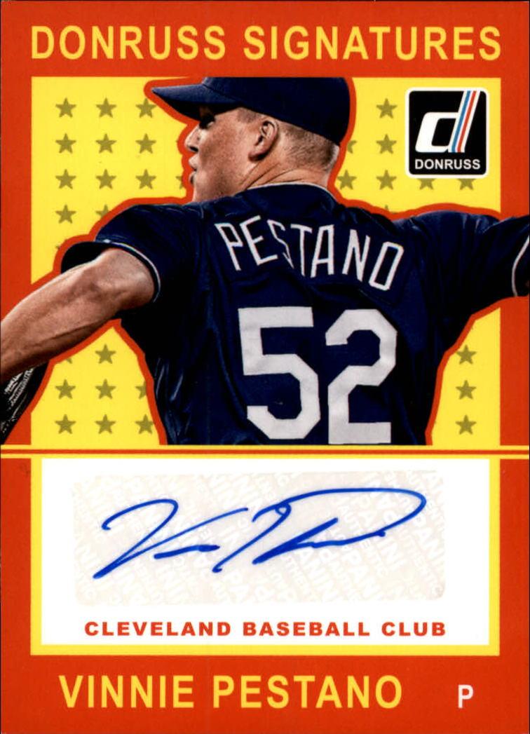 2014 Donruss Signatures #45 Vinnie Pestano