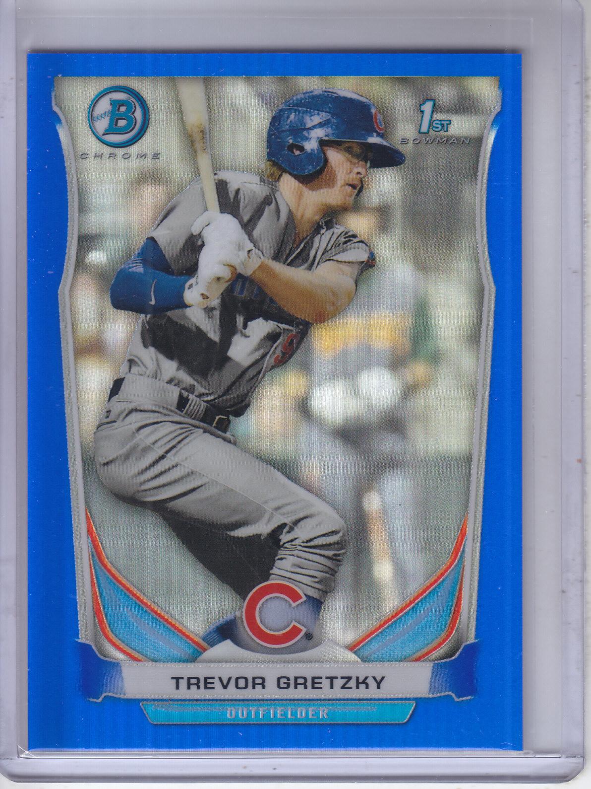 2014 Bowman Chrome Prospects Blue Refractors #BCP48 Trevor Gretzky