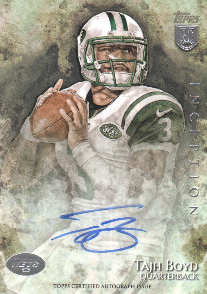 2014 Topps Inception #46R Tajh Boyd AU RC