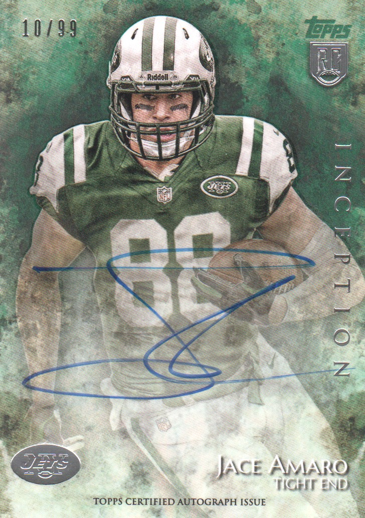 2014 Topps Inception Green #19R Jace Amaro AU