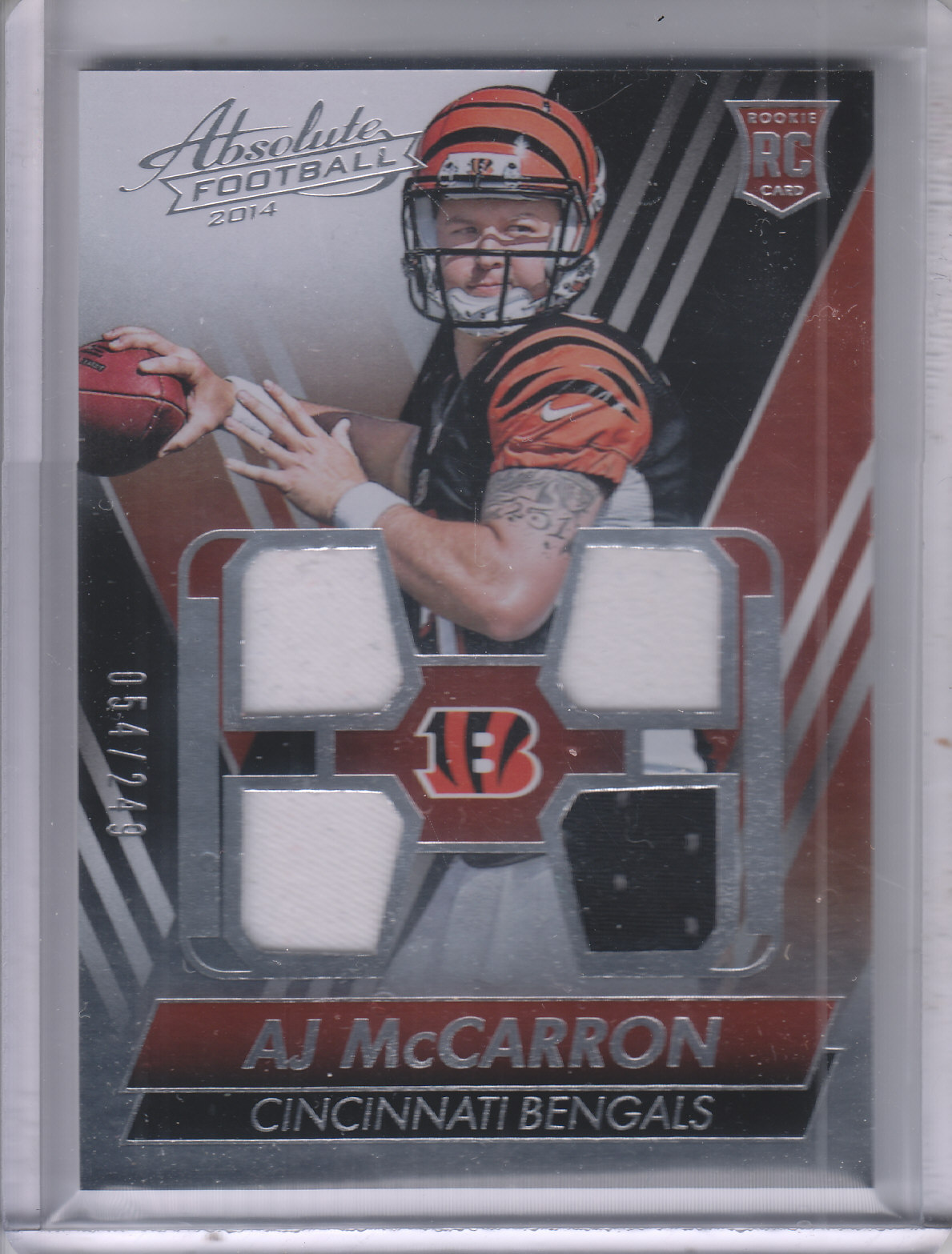 2014 Absolute Rookie Jersey Quad #RJAM A.J. McCarron