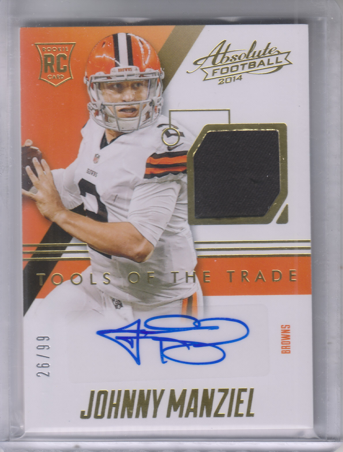 2014 Absolute Tools of the Trade Rookie Signatures #TTRSJM Johnny Manziel