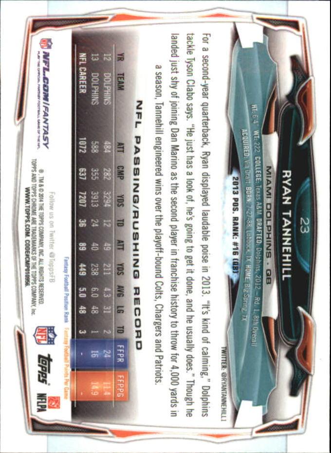 2014 Topps Chrome Mini #23 Ryan Tannehill back image