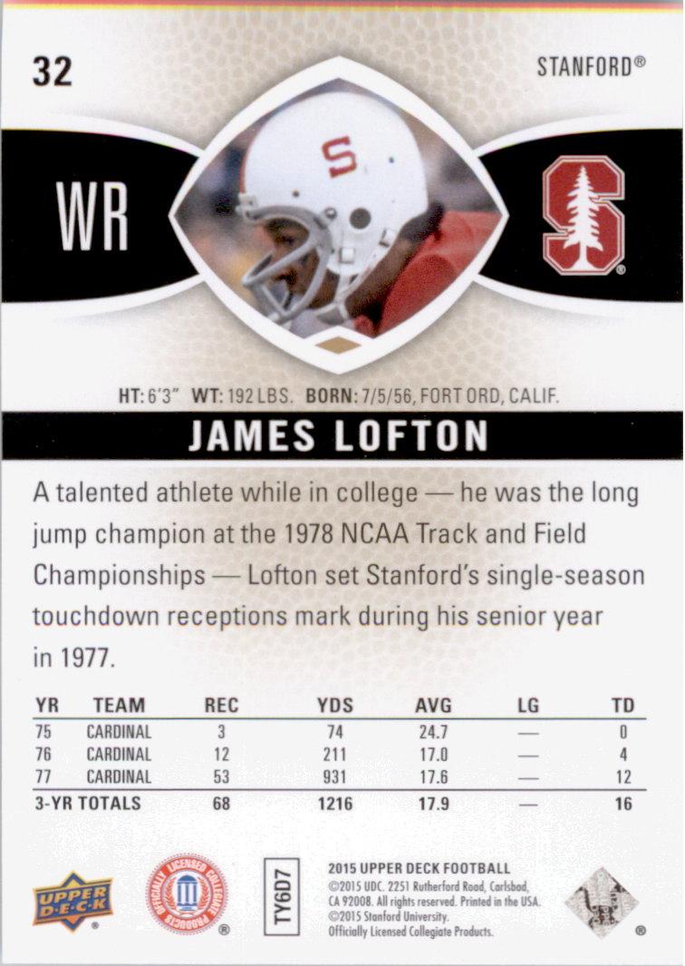 2015 Upper Deck #32 James Lofton back image
