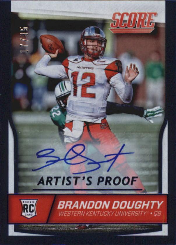 2016 Score Rookie Autographs Artist's Proof #338 Brandon Doughty/35