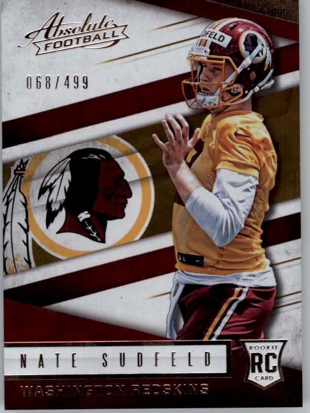 2016 Absolute #155 Nate Sudfeld RC
