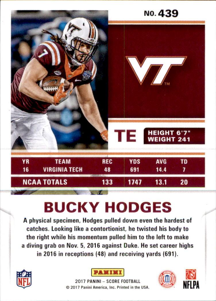 #439 2017 panini score Bucky Hodges, football card!!! Rookie