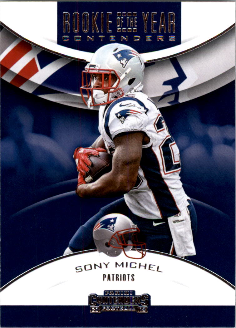 2018 Panini Contenders Rookie of the Year Contenders #10 Sony Michel