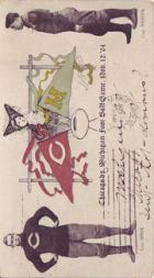 1904 College Captains and Teams Postcards #2 Chicago vs. Michigan/(November 12, 1904)/F.A. Speik (Chicago)/(Willie Heston (Michigan)