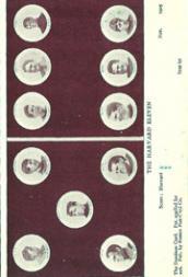 1905 Dominoe Postcards #5 Harvard/Foster/Dillwyn Starr/Kersburg/Beaton Squires/Hall/Daniel Hurley/Carr/White/Frank Burr/Carl Brill