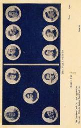 1905 Dominoe Postcards #9 Yale/Paul Veeder/Tad Jones/C.W. Hockenberg/R.W. Forbes/J.M. Cates/C.S. Flanders/Flinn/S. Morse/R.C. Tripp/Turner/Thomas Shevlin