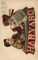 1907 Christy College Series 7 Postcards #4 Harvard