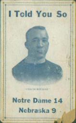 1919 Notre Dame Postcards #1 Knute Rockne