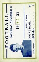 1923 Notre Dame Postcards #4 Gene Oberst/(Nov. 17, 1923)