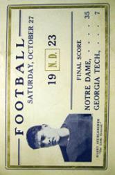 1923 Notre Dame Postcards #5 Harry Stuhldreher/(Oct. 27, 1923)