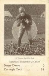 1926 Notre Dame Postcards #6 John Niemiec/(Nov.27 vs. Carnegie Tech)