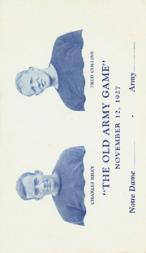 1927 Notre Dame Postcards #6 Charlie Riley/Fred Collins/(Nov. 12 vs. Army)