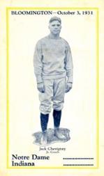 1931 Notre Dame Postcards #2 Jack Chevigney CO