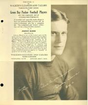 1932 Packers Walker's Cleaners #13 Johnny Blood McNally