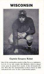 1933 College Captains #6 Gregory Kabat