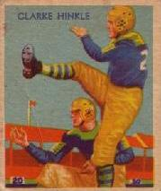 1935 National Chicle #24A Clarke Hinkle SN RC UER/(missing copyright date)