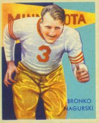 1935 National Chicle #34 Bronko Nagurski RC
