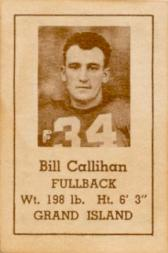 1940 Nebraska Don Leon Coffee #3 Bill Callihan