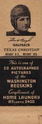 1941 Redskins Matchbooks #3 Sammy Baugh