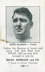 1946 Browns Sears #1 Ernie Blandin