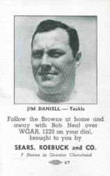 1946 Browns Sears #2 Jim Daniell
