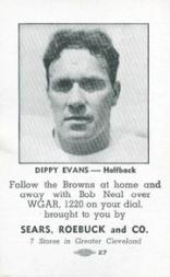 1946 Browns Sears #3 Fred Evans