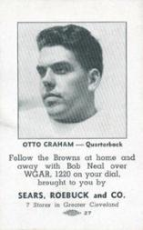 1946 Browns Sears #5 Otto Graham