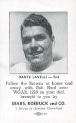 1946 Browns Sears #6 Dante Lavelli