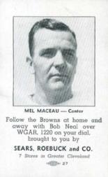 1946 Browns Sears #7 Mel Maceau