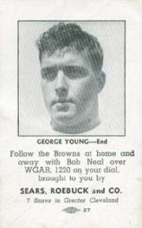 1946 Browns Sears #8 George Young E