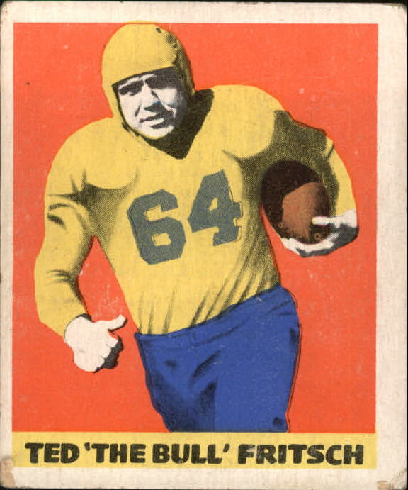 1948 Leaf #35A Ted Fritsch Sr. DJN RC/(darker jersey numbers,/brown football)
