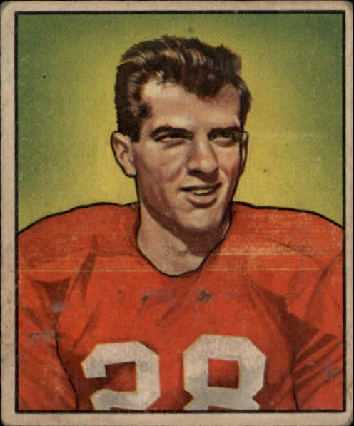 1950 Bowman #91 Frank Tripucka