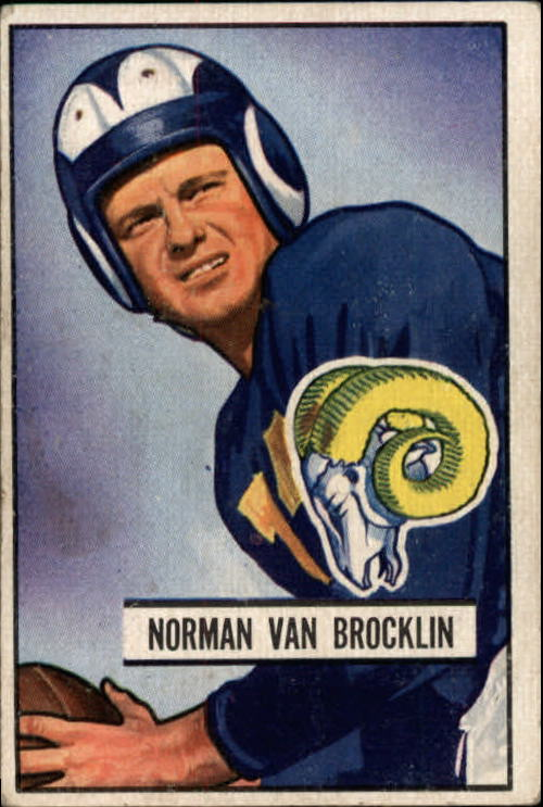 1951 Bowman #4 Norm Van Brocklin RC
