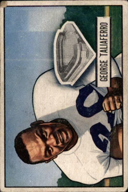 1951 Bowman #8 George Taliaferro